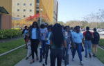 Students Being Shown the Campus